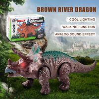 Light Up Dinosaur Electronic Walking Robot Roaring Interactive Dino Toy
