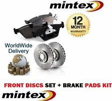 FOR FORD ESCORT MK3 MK4 FRONT BRAKE DISCS AND DISC PAD KIT IN MINTEX