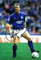Signed Graham Roberts Glasgow Rangers Autograph Photo Tottenham Chelsea