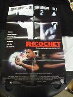 Vintage Movie Poster 1 sh Ricochet Denzel Washington Ice T Kevin Pollak 1991