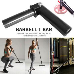 For Back Exercise Barbell T Bar Easy Install Flexible Post Insert Landmine
