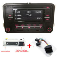 Autoradio RCN210+Kabel BLUETOOTH CD USB AUX SD für VW GOLF TOURAN CADDY POLO EOS