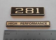 281 HIGH PERFORMANCE black plastic with Chrome   emblem emblems badge new