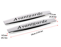 2x For Mercedes Avantgarde Badge Emblem Metal Chrome Logo-Sticker Rear Trunk