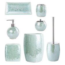 Whole Housewares Bathroom Accessories Set, 4-Piece Glass Mosaic Bath Accessory