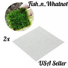 2x Aquarium Fish Tank Stainless Steel Wire Mesh Pad Plants Moss Net Decor 8x8cm