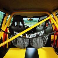 NA/1858 OMP RACING HELMET IN CAR CARRY STORAGE NET RALLY CAR - HOLDS 2 HELMETS