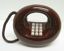 Brown Western Electric Sculptura TouchTone Desk Telephone - Full Restoration