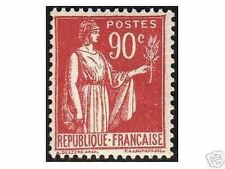 "FRANCE STAMP TIMBRE YVERT N° 285 "" TYPE PAIX 90c ROUGE "" NEUF xx LUXE R122"