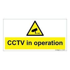 Operazione di avvertimento CCTV Sicurezza Metallo Segno Board Taglia 300mm x 200 mm Sicurezza