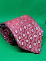 "ermenegildo zegna silk tie 60"" × 3 3/4"" red blue gradient flowers"