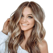 Women's Ombre Blonde Long Wavy Hair Curly Wigs Ladies Natural Cosplay Wave Wig
