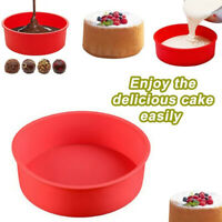 Round Shape Silicone Mold Cake Pan Pizza Tray Mould Bread Toast Baking Tool Well