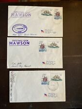 Aat Antarctic Polar Cover Lot Researcher Signed Mawson Island, Ice Core 123-23