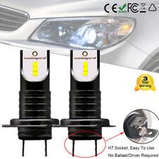 2x Bombillas 110W H7 LED Luz LED Lámpara faro Kit coche 30000LM 6000K Blanco