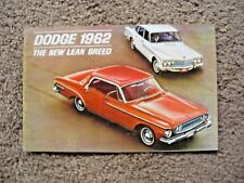 1962 Dodge new breed dealer brochure Dart Lancer