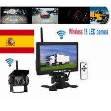 """7"""" Pulgadas TFT LCD Vista Trasera Coche Monitor +cámara de marcha atrás respaldo"""