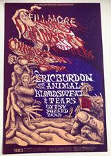 1968 Conklin Eric Burdon Chambers Bros Bill Graham Fillmore Poster Bg 132 Mint