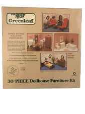 Greenleaf 30-Piece Wooden Dollhouse Furniture Kit #9030 Nip *Vintage*