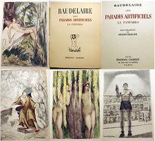 BAUDELAIRE/LES PARADIS ARTIFICIELS/ED COLBERT/1951/HERTENBERGER ILL/DROGUES/RARE