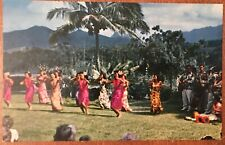 Hula Dancers Palm Tree Tiki Hawaiiana Nani Li'i Postcard