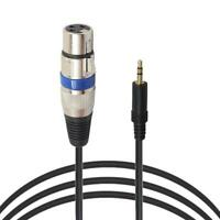 XLR 3pin Female to 3.5mm TRS Male Cable Audio Adapter Microphone Cable NIGH