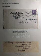 1946 Ely England Polish Refuse At Chippenham Camp Cover To Zurich Switzerland