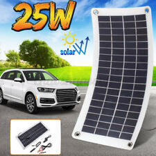 Flexible Solar Panel 25W 12V Charge Battery Charger Kit Maintainer Boat Car