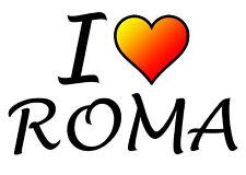 TRANSFER STAMPA MAGLIETTA T-SHIRT I LOVE ROMA CALCIO