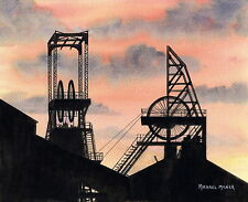 Glasshoughton Colliery - 1869 - 1986 - Ltd Ed Print - Pit Pictures - Coal Mining