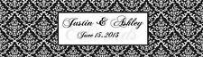 100 Damask  Wedding Anniversary Water Bottle Labels Baroque 2