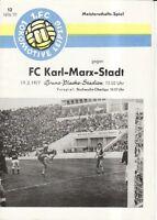 OL 76/77  1. FC Lok Leipzig - FC Karl-Marx-Stadt