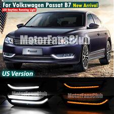 New LED Daytime Running Light For VW Passat B7 DRL Fog Lamp 2011 12 2013 Signal