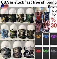 Tube Face Mask Face Cover Bandanna  Neck Gaiter Scarf Balaclava Skull Camouflage