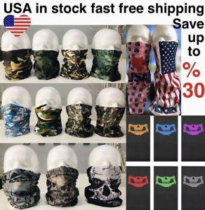 Face Mask Face Cover Bandanna  Neck Gaiter Scarf Balaclava Skull Camouflage tube