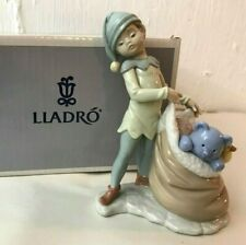 Lot #35: Lladro: Santa's Sack Of Dreams Santa's Magical Work Shop Figurine W Box
