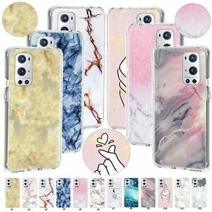 Texture Marble Case Cover For OnePlus 9 Pro 7T Plus Nord 100 5G CE N100/N200/N10