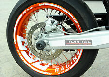 Aufkleber Felgenaufkleber * WUNSCHTEXT * KTM SMC 690 LC4 660 625 Supermoto SMC-R