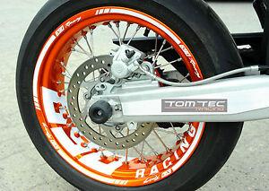 Felgenaufkleber Supermoto Radsatz Felgen KTM SMC 690 SMC-R LC4 EXC 450 500 SX-f