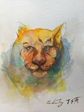 Tiger Watercolor Painting by Dr. Caroline Ting