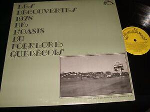 LES DECOUVERTES DE L'OASIS DU FOLKLORE<><>RARE Lp Vinyl~Canada Press<> GR-341