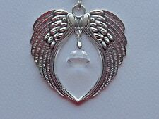 ANGEL WINGS CRYSTAL SUN CATCHER CAR REAR VIEW MIRROR CHARM ORNAMENT MOBILE