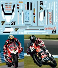 1/4 CONVERSION DECALS Ducati Panigale 2015 SBK Troy Bayliss Davies  Decal TBD486