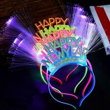 Happy New Year LED Hair Hoop Flashing Glow Headband Light Up Hairband Christmas
