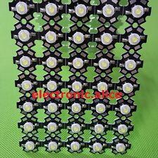 50pcs New 3W High Power cold white 20000K-25000K LED+20mm star pcb
