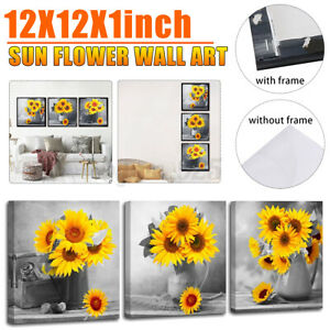 Sunflower Canvas Pictures Wall Art Paintings Floral Wall Living Room Mural Decor