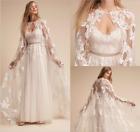Wedding Jackets White Ivory Lace Capes Bridal shawl Lace Bolero Custom