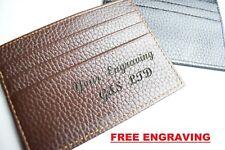 Cartera grabado personalizado en Londres titular de la tarjeta de crédito moneda novio hijo