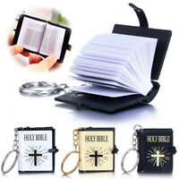 Mini Bible Keychains HOLY BIBLE Religious Christian Jesus Cross Keyrings TR