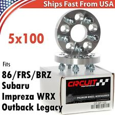 """2X 20mm 3/4"""" Wheel Spacers 5x100 12x1.25 - 56.1mm Centerbore for FRS BRZ 86 WRX"""